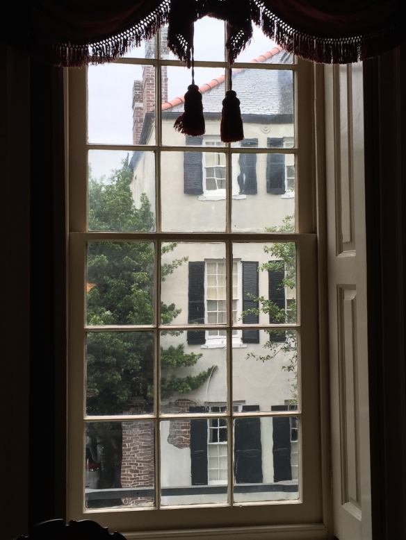 The view from the drawing room of the Hayward-Washington House onto Church Street.
