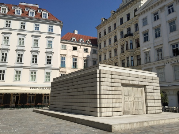 I just had to go find the Jewish Memorial that Ryan Reynolds visited at the end of the movie. It's located in the Judenplatz, over in the older area of Vienna. Definitely worth the longer walk from the other sites.