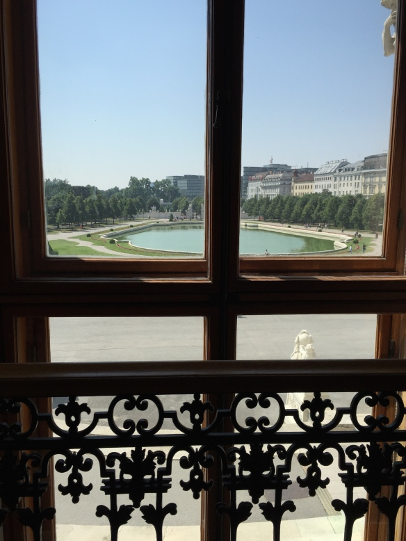 The view from the inside of the Belvedere.