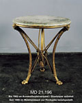 Bronze table. Taken from the 'aryanised' apartment of Viktor Ephrussi Held ready for restitution since 1999