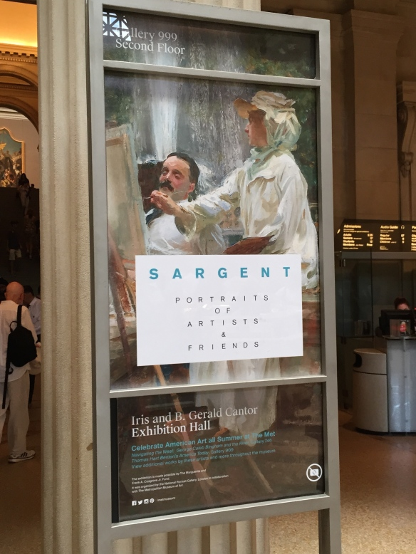 Poster, Metropolitan Museum of New York, John Singer Sargent Exhibit (2015)