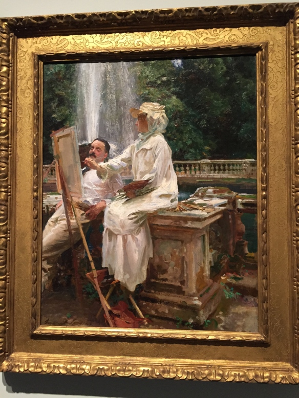 "John Singer Sargent, The Fountain, Villa Torlonia, Frascati, Italy, 1907. Art Institute of Chicago, oil on canvas 71.4 x 56.5 cm (28 1/8 x 22 1/4 in.) Signed, lower left: ""John S. Sargent"" Friends of American Art Collection, 1914.57"