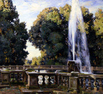 Wilfred de Glehn, Fountain at the Villa Torlonia, Frascati, oil on canvas, 1907