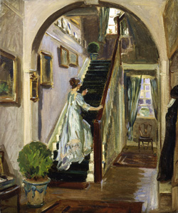 Wilfred de Glehn, Jane on the Staircase, Cheyne Walk, c. 1905