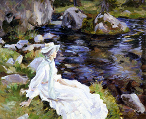 Wilfred de Glehn, Jane by the Stream, Purtud, Val d'Aosta, 1907