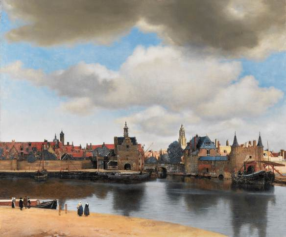 Johannes Vermeer, View of Delt (16xx), oil on canvas, The Mauritshuis, The Hague