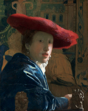 Johannes Vermeer , Girl with the Red Hat (c. 1665/1666), oil on panel, Andrew W. Mellon Collection, National Gallery of Art. Washington, D.C.