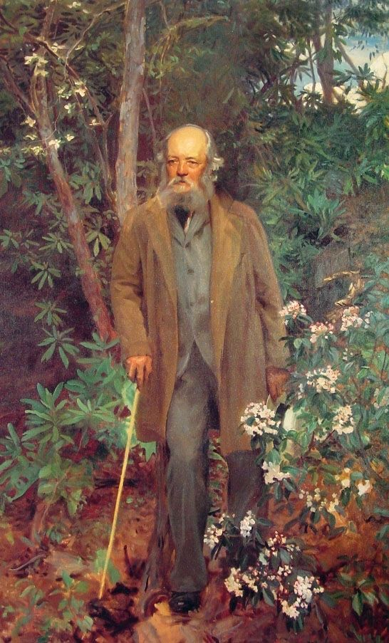 John Singer Sargent, Frederick Law Olmsted (189 ), oil on canvas, Second Floor Hallway of the Biltmore Estate, Asheville, North Carolinia