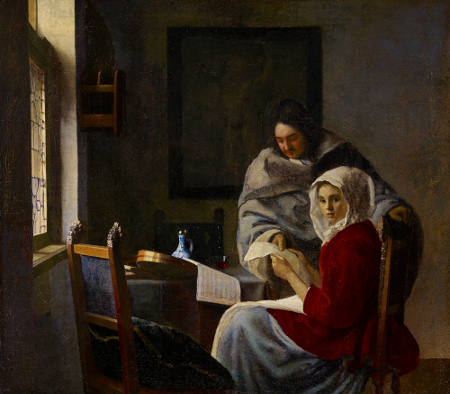 Johannes Vermeer, Girl Interrupted in Her Music (c. 1658-61), oil on canvas, Frick Collection, New York