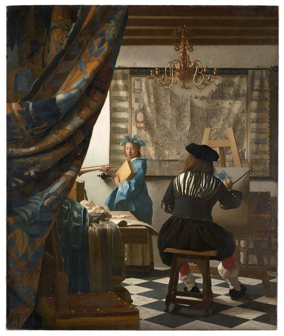 Johanes Vermeer, The Art of Painting (16xx), oil on canvas, The Mauritshuis, The Hague