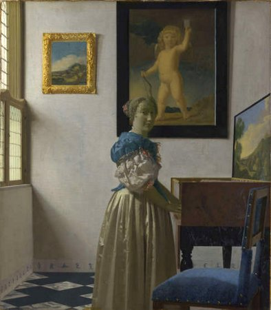 Johannes Vermeer, Lady Standing at a Virginal (c. 1670-1673), oil on canvas, National Gallery, London