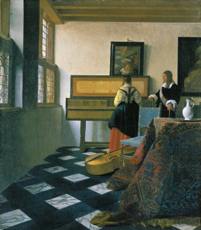 Johannes Vermeer, The Music Lesson (1662-1664), oil on canvas, The Royal Collection, England