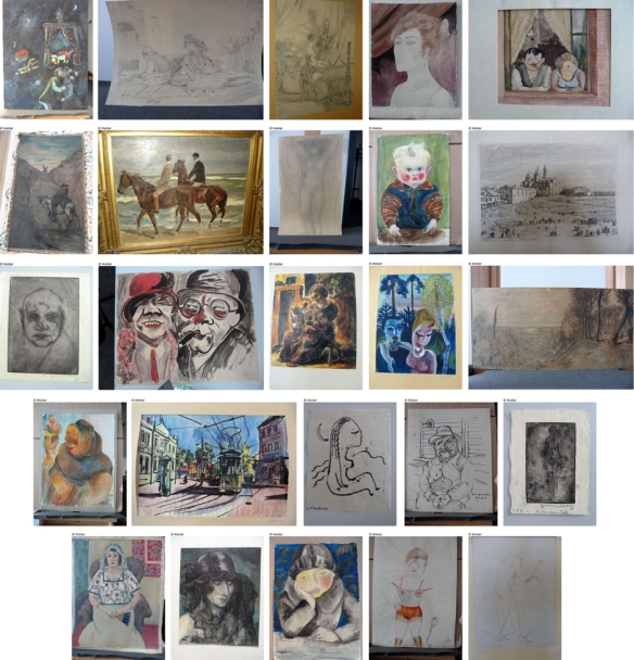 A photograph of some the Gurlitt Collection supplied by the German prosecutor's office to help identify potential claimants