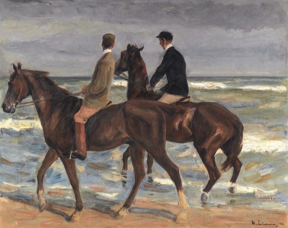 Max Liebermann, Two Riders on a Beach (1901), sold by the heirs of David Friedmann in June, 2015 for approximately $2.8 million at a Sotheby's auction in London.