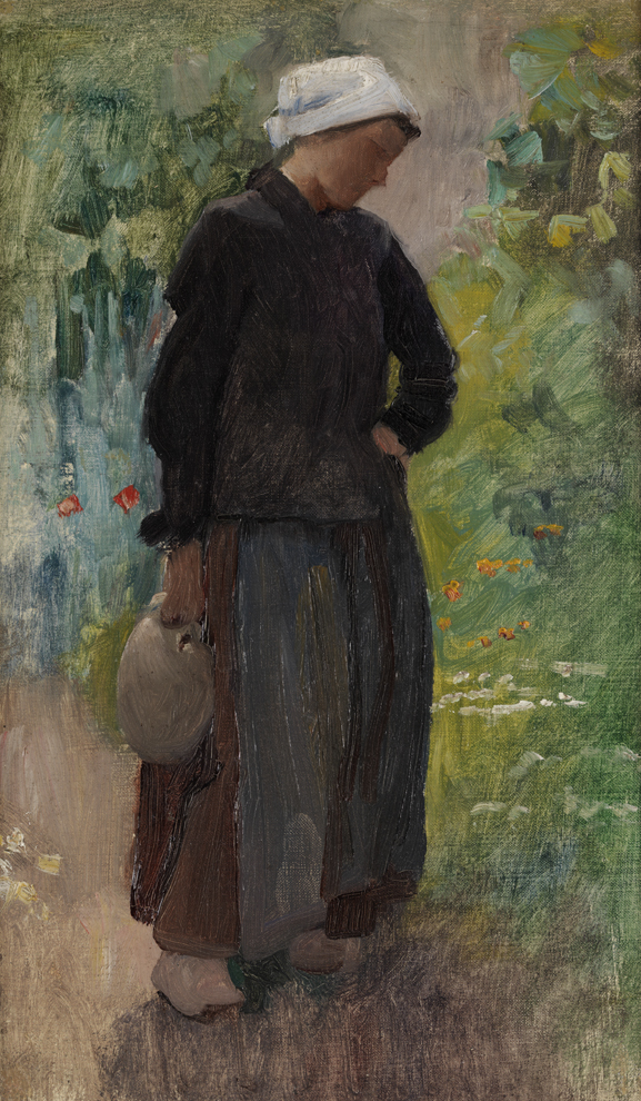 Cecilia Beaux, A Country Woman, Concarneau, France (1888), Oil on canvas, Pennsylvania Academy of the Arts