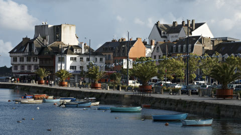 The seaside village of Concarneau today